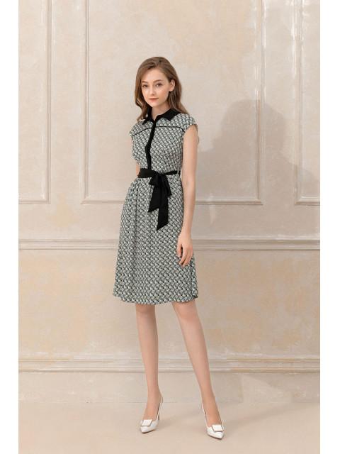 Đầm lụa B9DRE007G xanh