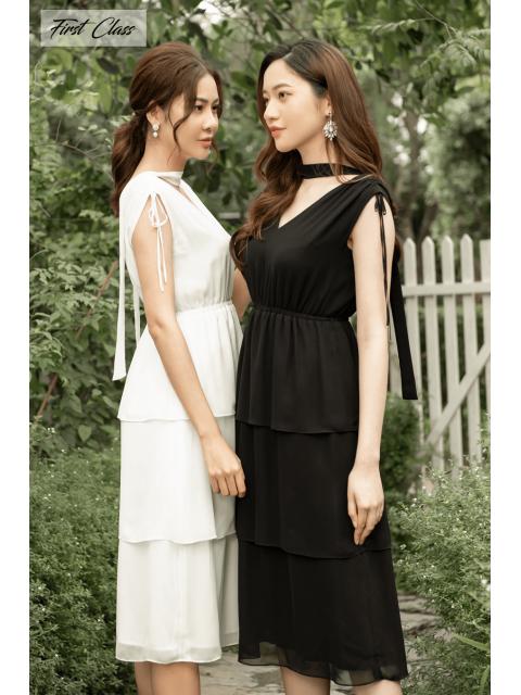Đầm A990-568I trắng/ đen