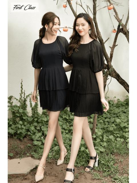 Đầm A995-532I đen/ tím than