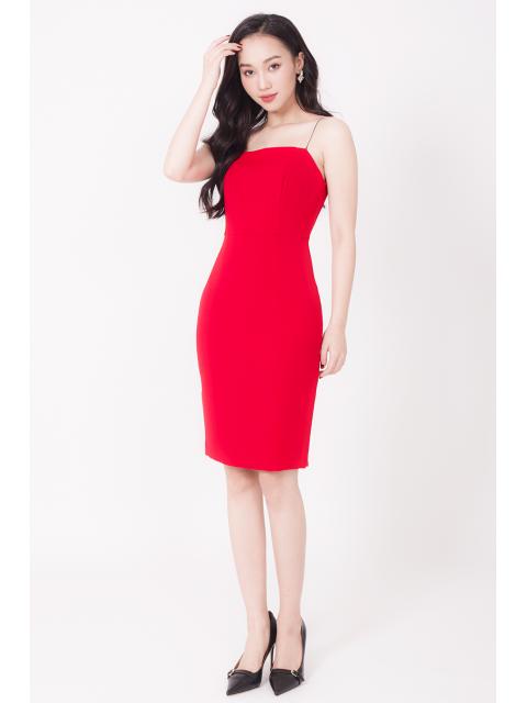 Đầm B990-901F đỏ