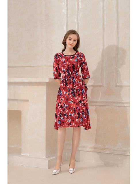 Đầm lụa B9DRE508G đỏ