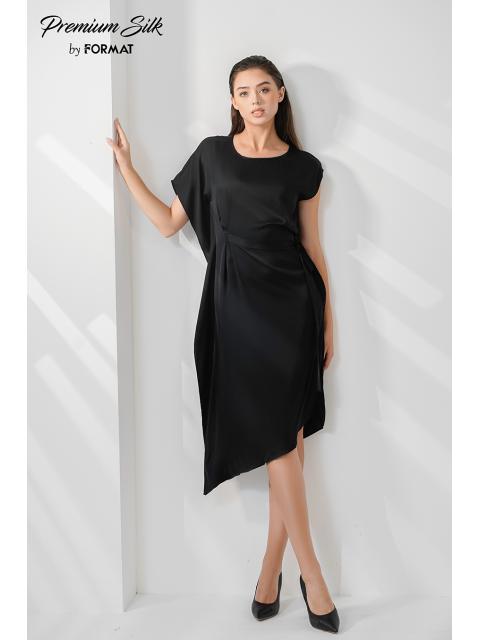 Đầm lụa B9DRE002G đen