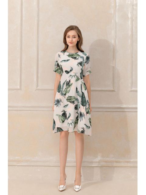 Đầm lụa B9DRE503G trắng
