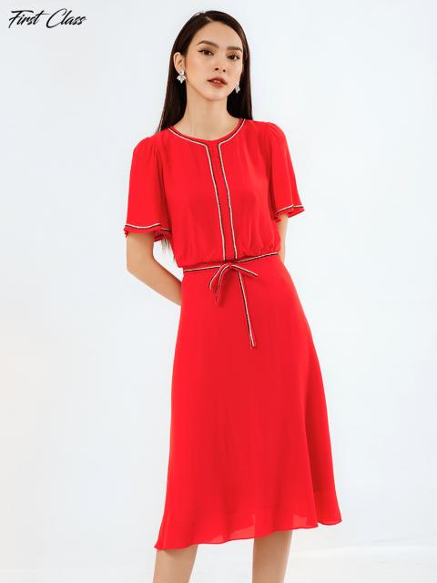 Đầm A993-266E đỏ tươi