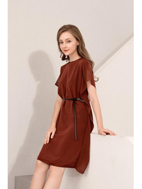 Đầm lụa B9DRE010G đỏ