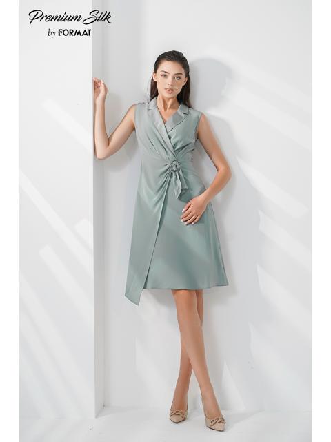 Đầm lụa B9DRE001G xanh