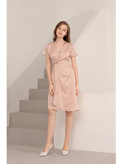 Đầm lụa B9DRE210G đỏ