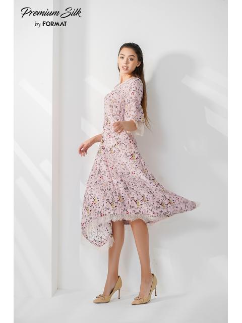 Đầm lụa B9DRE510G hồng