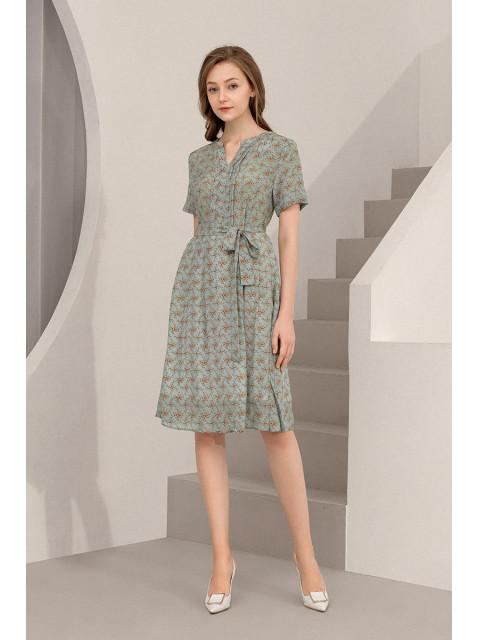 Đầm lụa B9DRE507G xanh