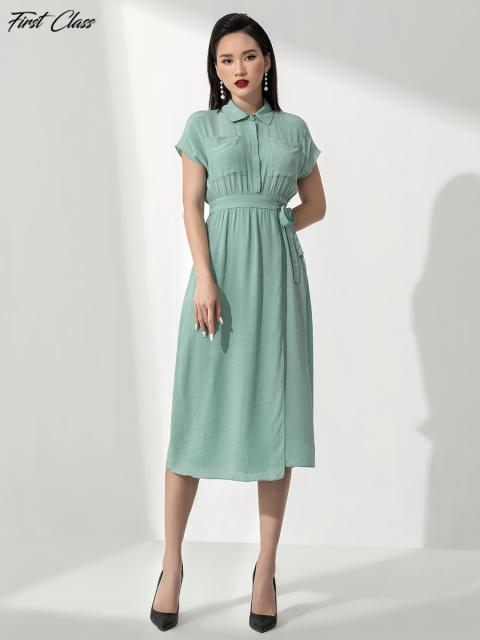 Đầm A991-145E xanh ngọc