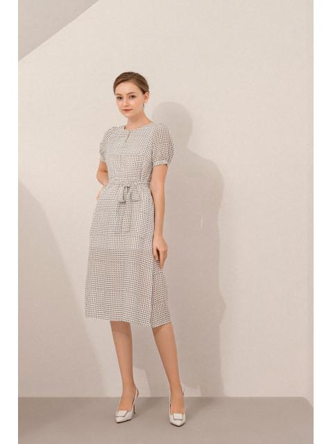 Đầm lụa B9DRE500G trắng
