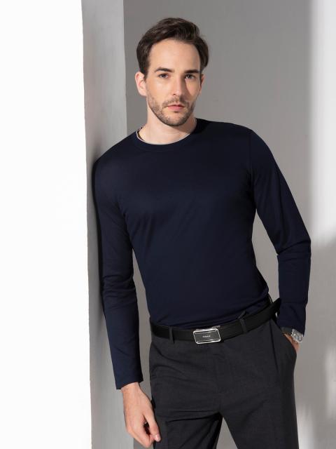 Áo T-shirt nam B7LST001F xanh tím than