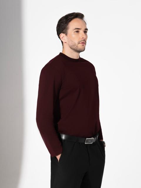 Áo T-shirt nam B7LST001D đỏ rượu