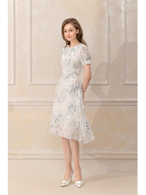 Đầm lụa B9DRE801G trắng