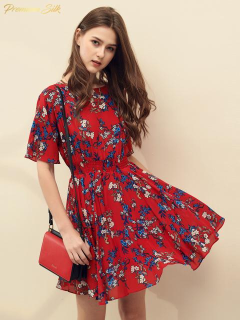 Đầm B9DRE210E đỏ