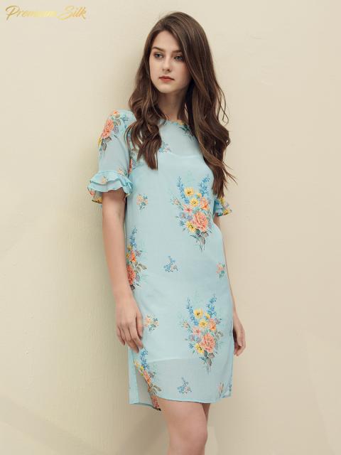 Đầm B9DRE215 xanh da trời