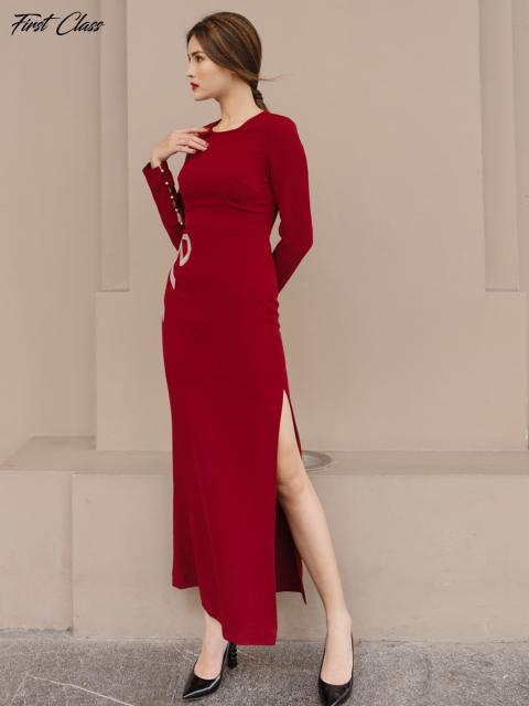 Đầm A999-322F đỏ