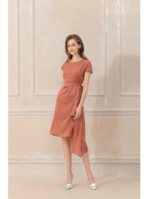 Đầm lụa B9DRE005G be