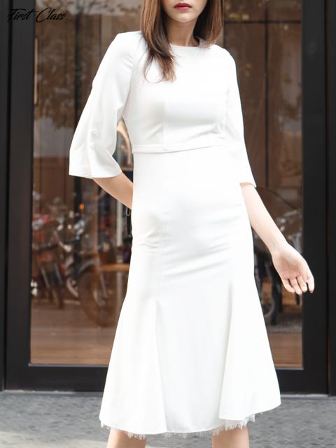 Đầm A997-346F trắng