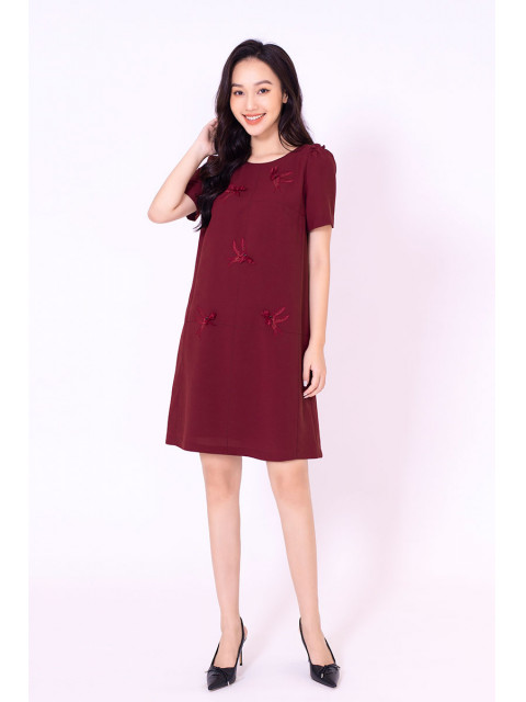 Đầm B993-480G nâu đỏ