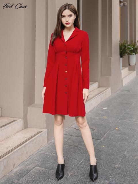 Đầm A997-321F đỏ