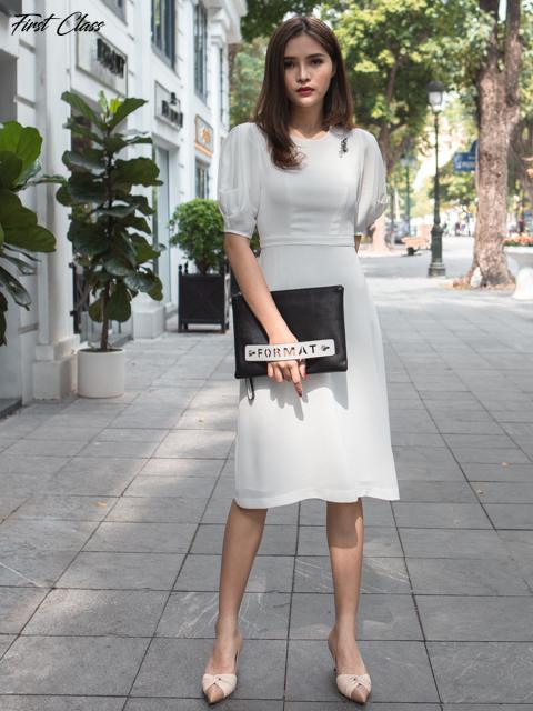 Đầm A995-348F trắng