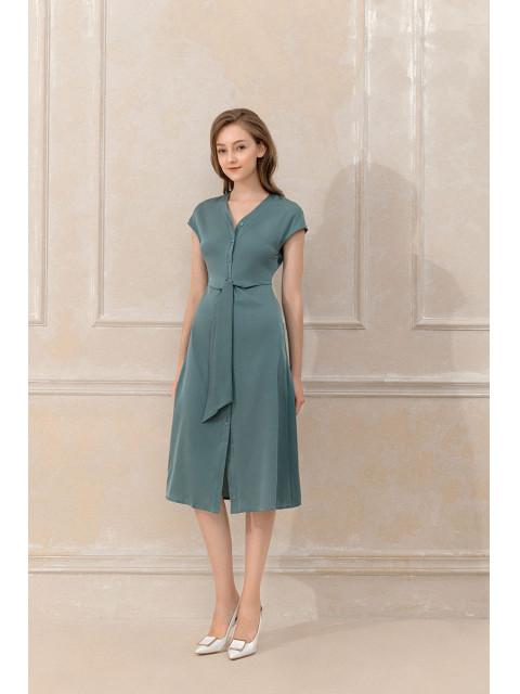 Đầm lụa B9DRE003G xanh