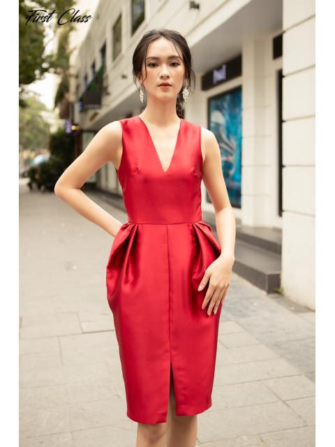 Đầm A990-121D đỏ