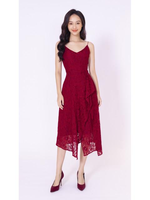 Đầm A990-415G đỏ đô