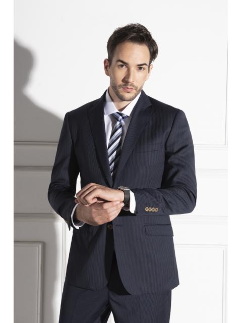 Áo suit nam B7BLZ005F xanh tím than