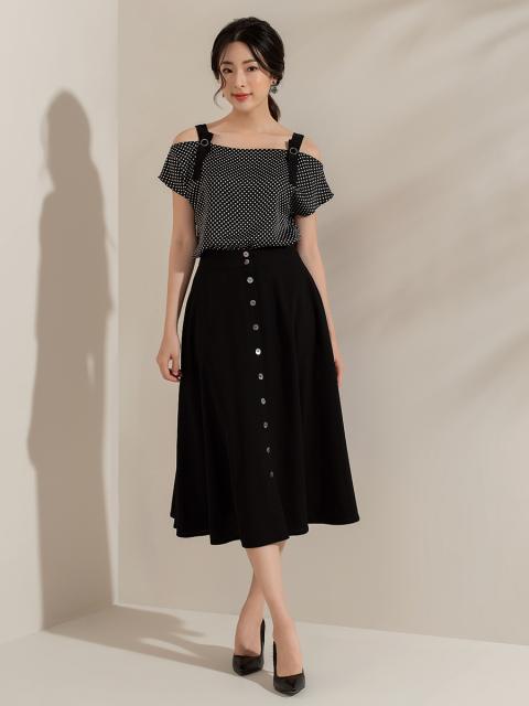 Chân váy B917-073E đen