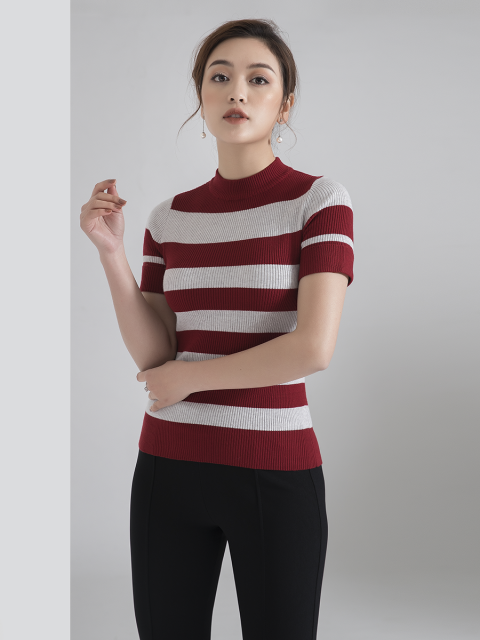 Áo len B935-734D đỏ đô 550