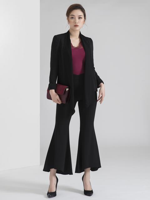 Áo blazer B957-402D đen