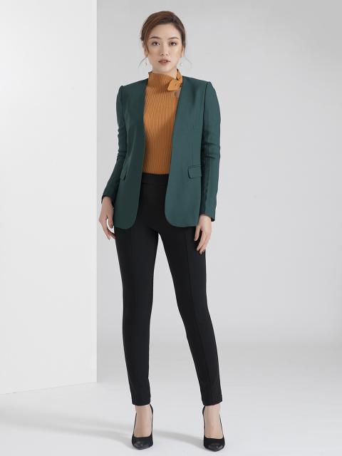 Áo blazer B959-403D xanh cổ vịt