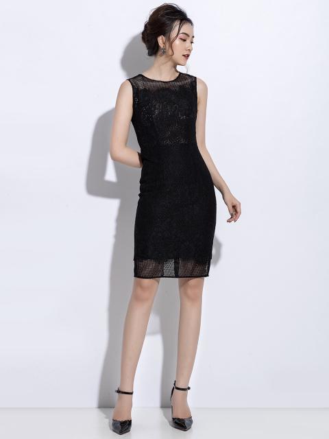 Đầm B990-075C đen