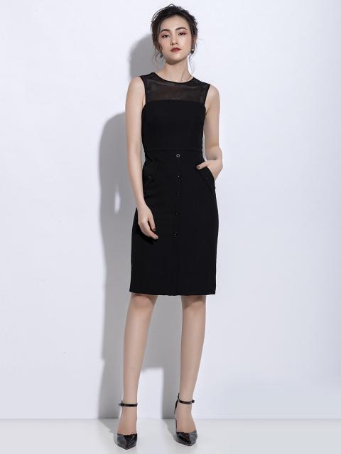 Đầm B990-146C đen