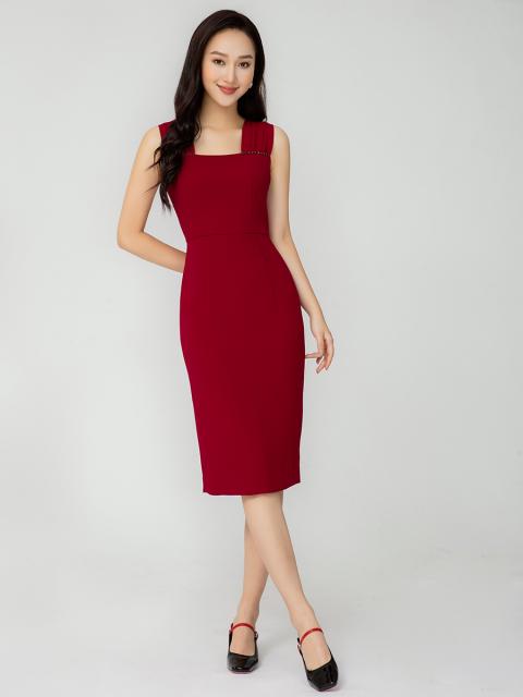 Đầm B990-218E đỏ