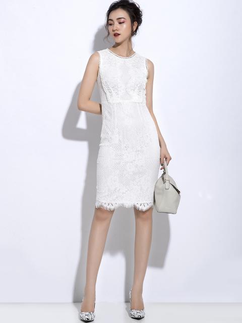 Đầm B990-231C trắng