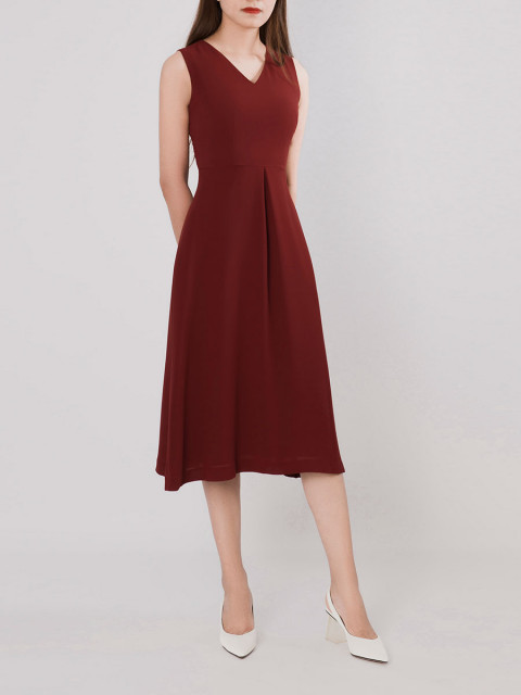 Đầm B990-491G đỏ đô