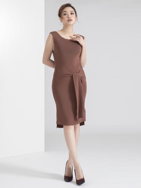 Đầm len B990-701D nâu