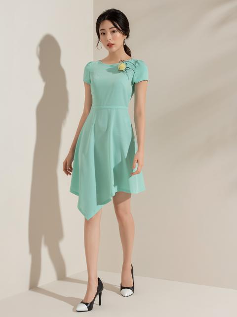 Đầm B993-028E xanh