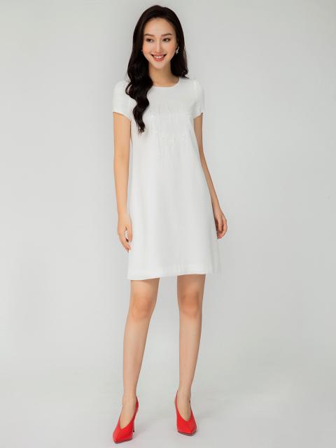 Đầm B993-062E trắng