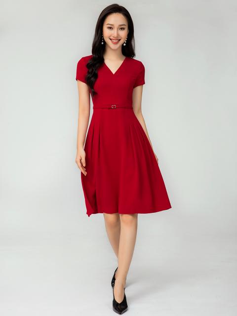 Đầm B993-077E đỏ