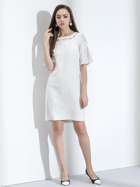 Đầm B993-176E trắng