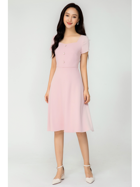 Đầm B993-228E hồng