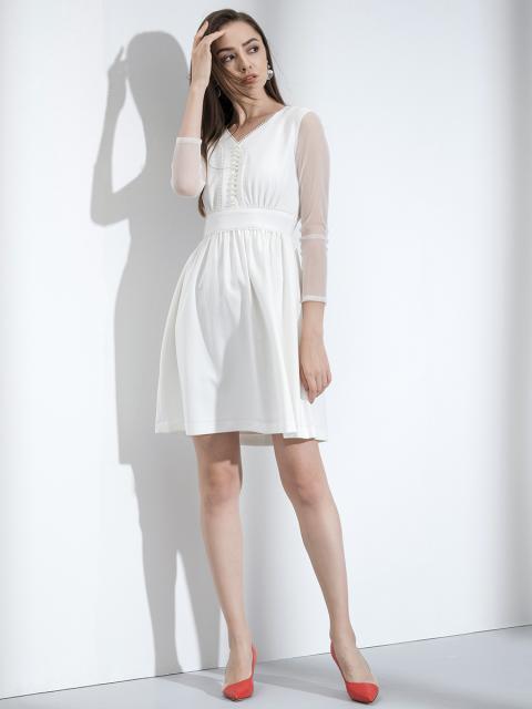 Đầm B997-303F trắng