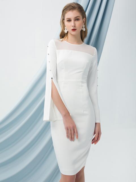 Đầm B999-312F trắng
