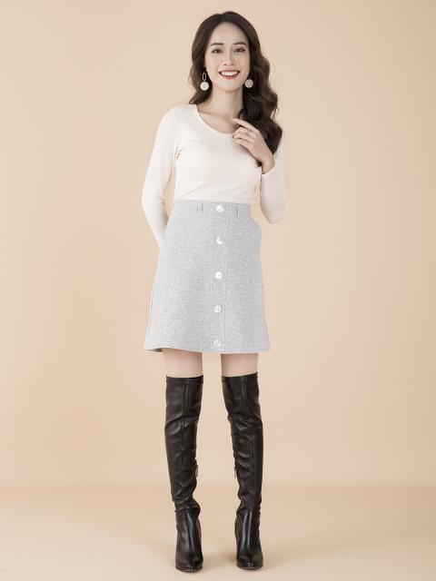 Chân váy B913-066D ghi sáng