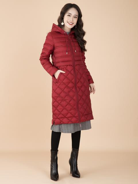 Áo khoác lông vũ B9COA003D đỏ