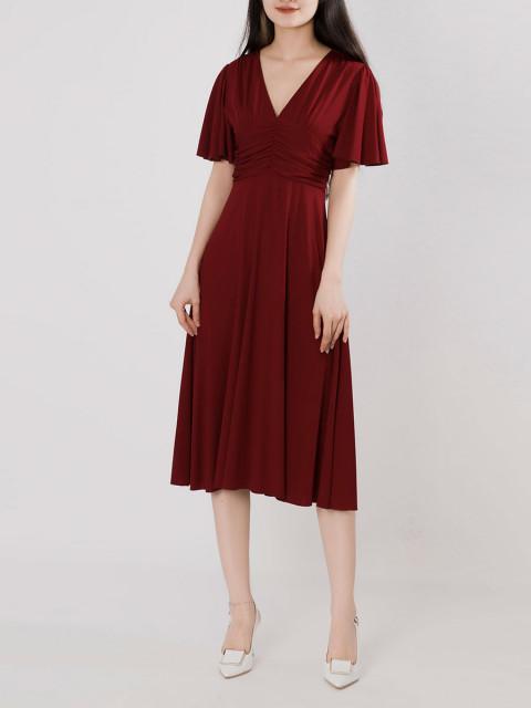 Đầm B9DRE217G đỏ đô